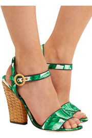 Dolce & Gabbana Printed satin sandals