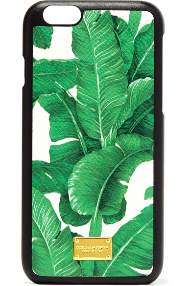 Dolce & Gabbana - Printed Textured-leather Iphone 6 Case - Green