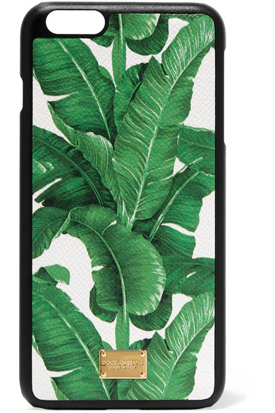 Dolce & Gabbana - Printed Textured-leather Iphone 6 Plus Case - Green