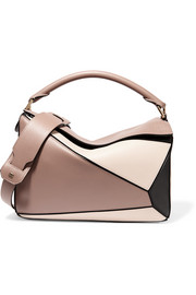Loewe Puzzle color-block leather shoulder bag