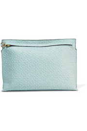 Loewe Embossed leather clutch