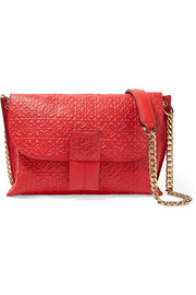 Avenue embossed leather shoulder bag