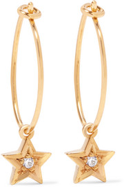 IAM by Ileana Makri Gold-plated Swarovski crystal earrings