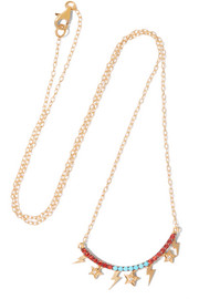 Raining Night gold-plated multi-stone necklace