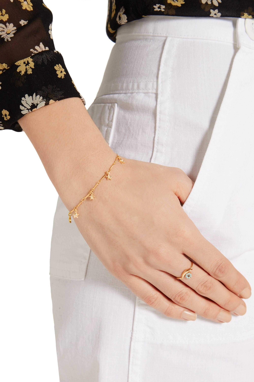 EYE M by Ileana Makri Mini Star gold-plated cubic zirconia bracelet