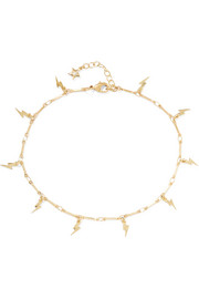 Mini Thunder gold-plated cubic zirconia anklet