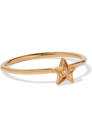 IAM by Ileana Makri Polar Star gold-plated Swarovski crystal ring