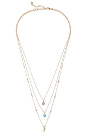 IAM by Ileana Makri Thunder Star gold-plated multi-stone necklace
