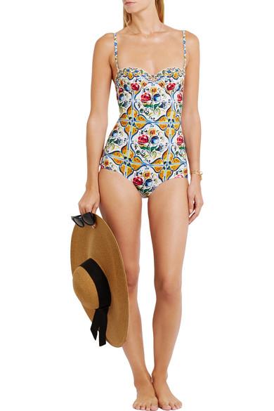 af53d2f596d169 Dolce & Gabbana | Printed swimsuit | NET-A-PORTER.COM