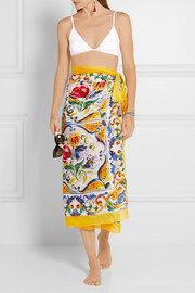Dolce & Gabbana Printed cotton pareo