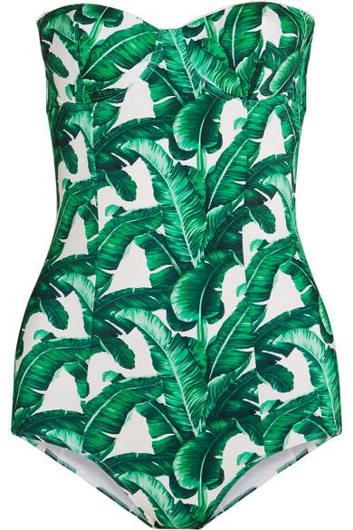 Dolce & Gabbana - Printed Swimsuit - Jade