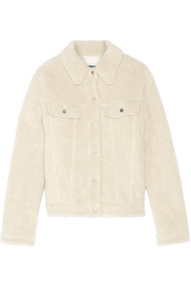 MM6 Maison Margiela - Teddy Faux Shearling Jacket - Ecru