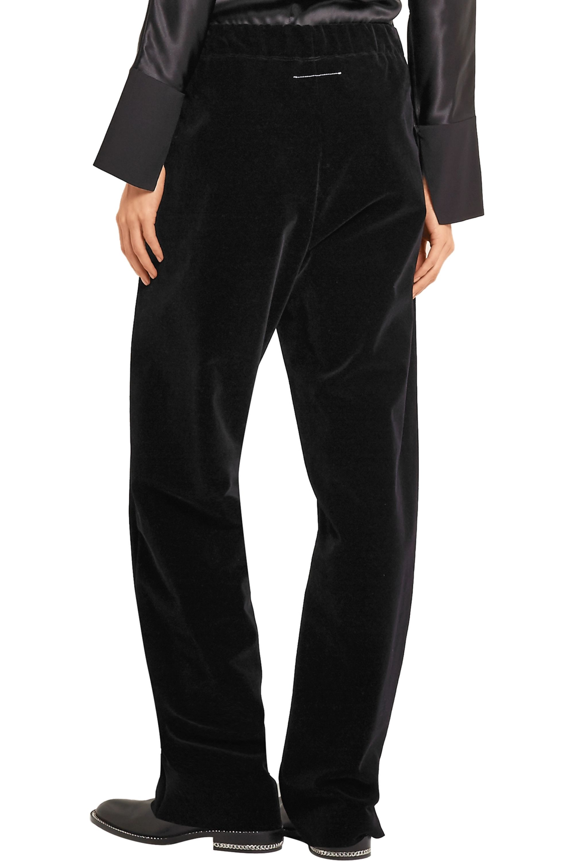 MM6 Maison Margiela Velvet wide-leg pants