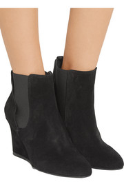 Lanvin Suede wedge ankle boots