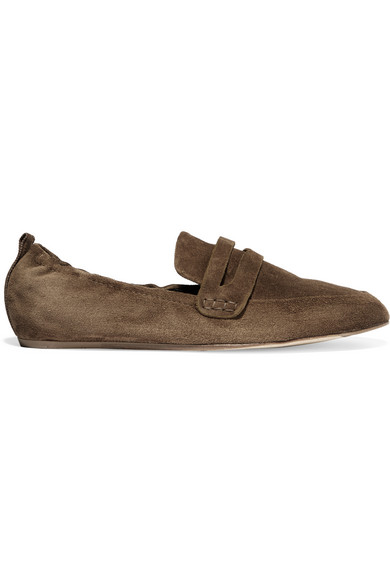 Lanvin - Suede Slippers - Brown