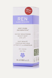 Ren Skincare Instant Brightening Beauty Shot Eye Lift, 15ml