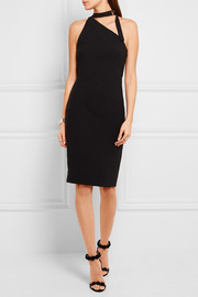 IRO + Anja Rubik Solly one-shoulder stretch-crepe dress