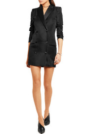 IRO + Anja Rubik Quiya satin-trimmed wool and silk-blend mini dress