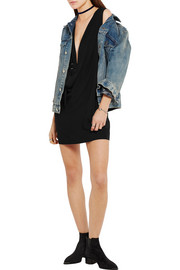 + Anja Rubik Stellie draped woven mini dress
