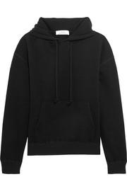 IRO + Anja Rubik Onassis cotton-jersey hooded top