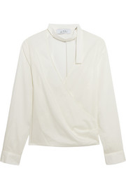 IRO + Anja Rubik Mareyna cotton and silk-blend blouse