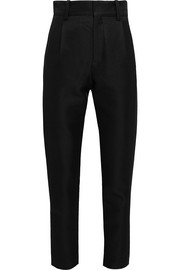IRO + Anja Rubik Malambo wool and silk-blend tapered pants