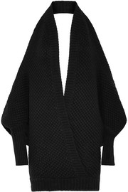 Chalayan Open-back merino wool and cashmere-blend sweater