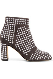 Christopher Kane Studded suede ankle boots