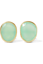 18-karat gold chrysoprase earrings