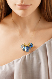 Pippa Small 18-karat gold labradorite necklace