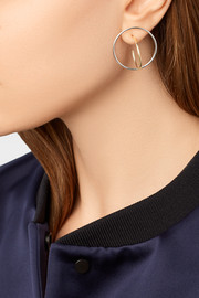 Saturn gold-plated and silver earrings