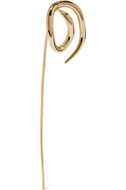 Whirl gold-dipped earring