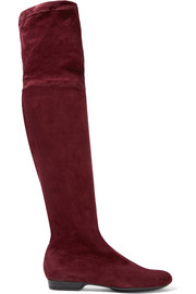 Robert Clergerie Fissal stretch-suede over-the-knee boots