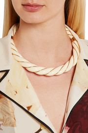 Aurélie Bidermann Diana gold-plated resin necklace