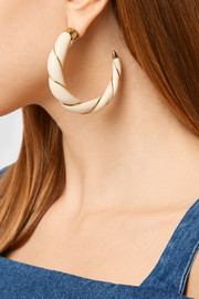 Aurélie Bidermann Diana gold-plated resin hoop earrings