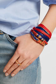Aurélie Bidermann Takayama gold-plated, coral and cotton bracelet