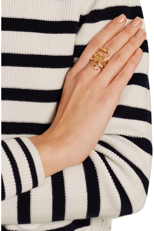 Aurélie Bidermann Mamba gold-plated ring