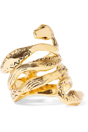 Aurélie Bidermann Mamba gold-plated ring