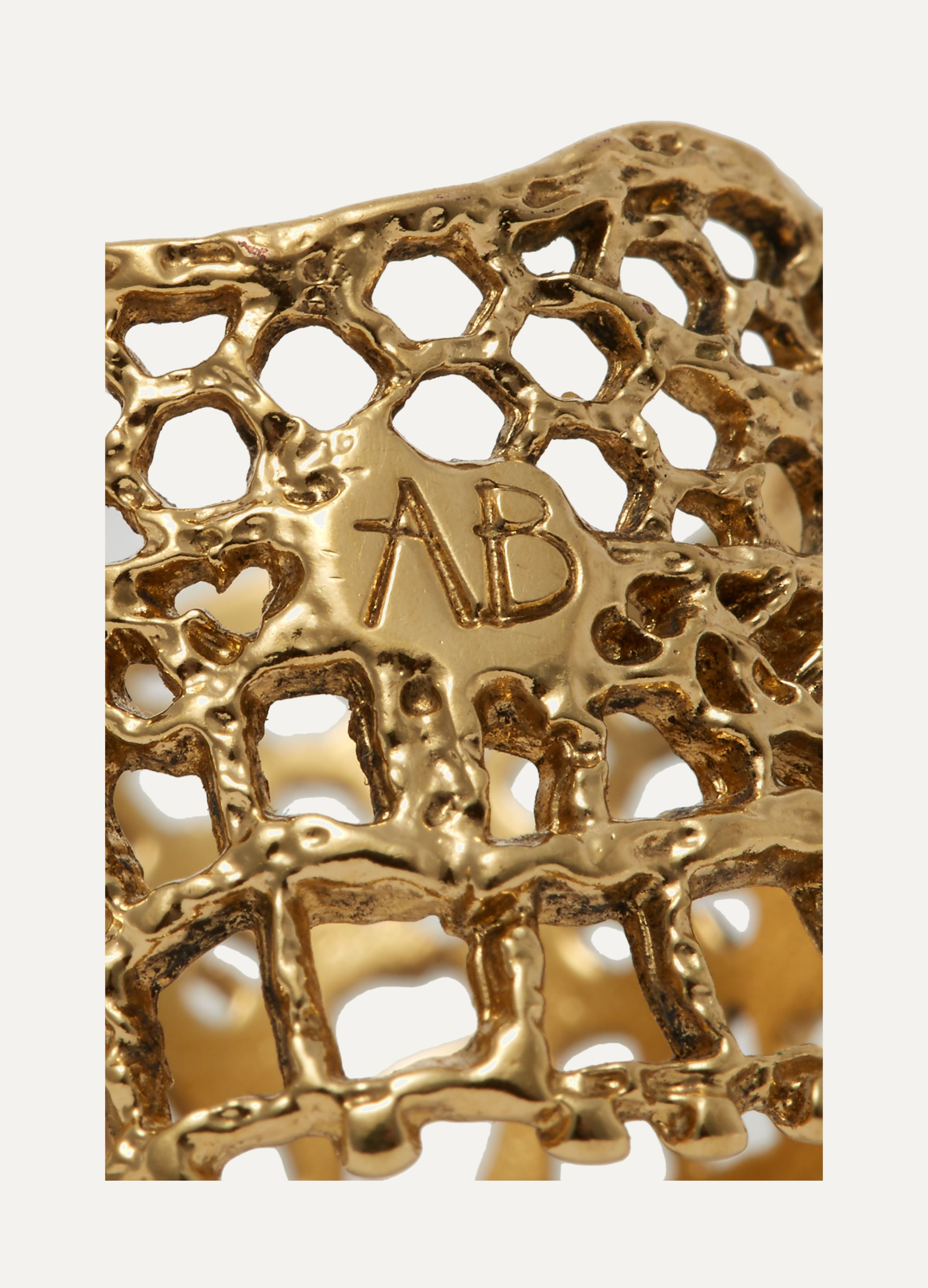 Aurélie Bidermann Lace gold-plated ring
