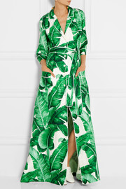 Dolce & Gabbana Printed silk-twill maxi dress