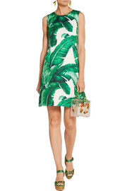 Dolce & Gabbana Cotton and silk-blend brocade mini dress