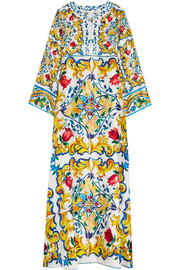 Dolce & Gabbana Printed silk maxi dress