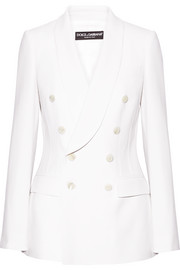 Dolce & Gabbana Double-breasted wool-crepe blazer