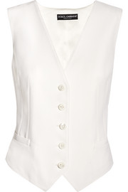 Dolce & Gabbana Stretch wool and silk-blend vest