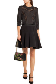 Dolce & Gabbana Lace-paneled cashmere-blend sweater
