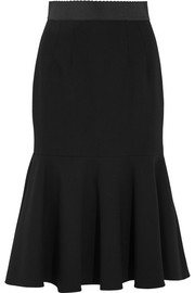 Dolce & Gabbana Fluted stretch-wool midi skirt