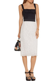 Corded lace pencil skirt