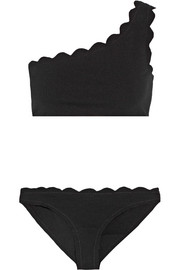 Santa Barbara scalloped one-shoulder bikini