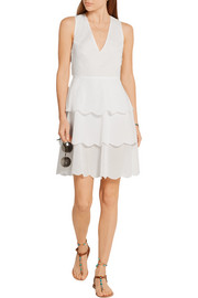 San Onofre tiered cotton-voile dress