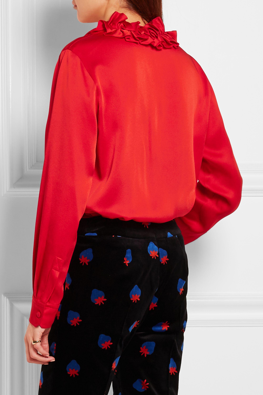 Sonia Rykiel Ruffled crepe de chine blouse